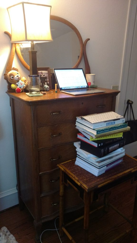 A clutter-free table is essential while working remotely