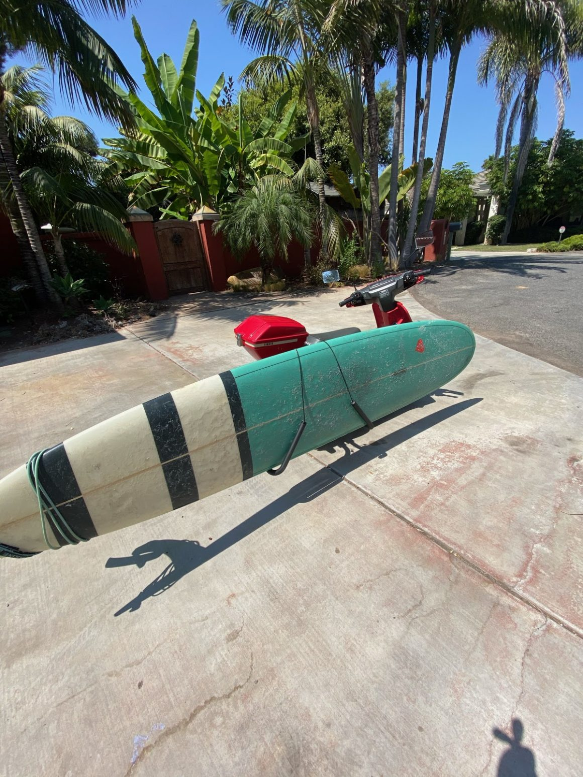MY SCOOTER AND SURFBOARD