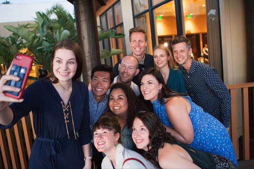In person at Buffer's last retreat in San Diego, CA with the Buffer Marketing team.